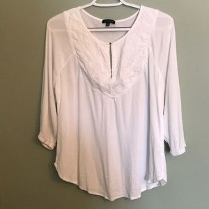 Boho white tunic top by Dynamite